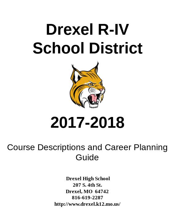 drexel r iv school district course description guide 2017 2018
